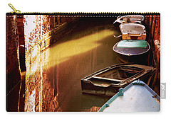 Carry-all Pouch featuring the photograph Legata Nel Canale by Micki Findlay