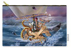 Carry-all Pouch featuring the painting Legendary Pirate by Rob Corsetti