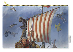 Carry-all Pouch featuring the painting Legendary Viking by Rob Corsetti