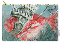 Carry-all Pouch featuring the painting Legionnaire Fish by Marina Gnetetsky