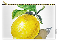 Artz Vitamins The Lemon Carry-all Pouch by Irina Sztukowski