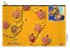 Carry-all Pouch featuring the digital art Leo  by The Art of Alice Terrill