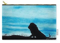 Leo At Sunset Carry-all Pouch by D Hackett