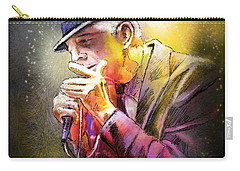 Leonard Cohen 02 Carry-all Pouch by Miki De Goodaboom