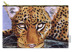 Carry-all Pouch featuring the painting Leopard In A Tree by Thomas J Herring