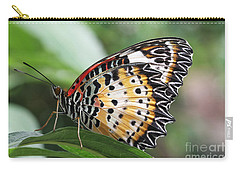 Leopard Lacewing Butterfly Carry-all Pouch by Judy Whitton
