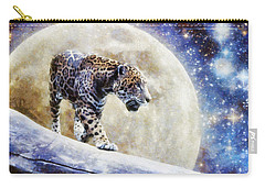 Carry-all Pouch featuring the painting Leopard Moon by Greg Collins
