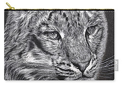 Carry-all Pouch featuring the pastel Adams Leopard - Pastel by Adam Olsen