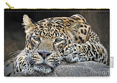 Carry-all Pouch featuring the photograph Leopard by Savannah Gibbs