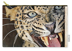 Leopard Snarling Carry-all Pouch by Diane Alexander