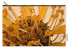 Carry-all Pouch featuring the photograph Leopards Bane Flower Macro by Sandra Foster