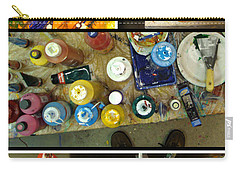 Carry-all Pouch featuring the photograph Les Couleurs by Sir Josef - Social Critic - ART