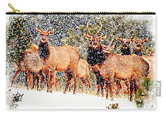 Let It Snow - Barbara Chichester Carry-all Pouch by Barbara Chichester