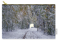 Carry-all Pouch featuring the photograph Let It Snow by Felicia Tica