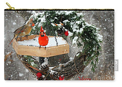 Carry-all Pouch featuring the photograph Let It Snow by Nava Thompson