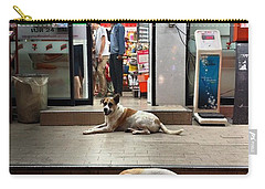 Carry-all Pouch featuring the photograph Let Sleeping Dogs Lie Where They May by Mr Photojimsf