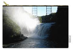 Letchworth State Park Upper Falls And Railroad Trestle Carry-all Pouch