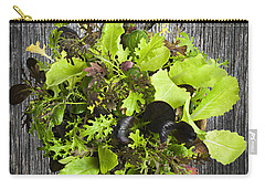 Lettuce Seedlings Carry-all Pouch by Elena Elisseeva