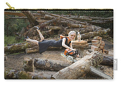 Levitating Housewife - Cutting Firewood Carry-all Pouch