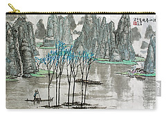 Carry-all Pouch featuring the photograph Li River In Spring by Yufeng Wang