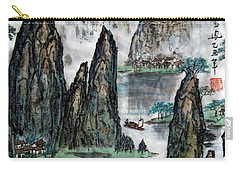 Carry-all Pouch featuring the photograph Li River by Yufeng Wang