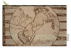 Wild Horse Carry-all Pouch by Sean Connolly