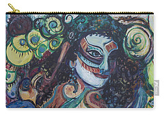 Librarian Of The Night #1 Carry-all Pouch by Avonelle Kelsey