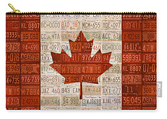 License Plate Art Flag Of Canada Carry-all Pouch by Design Turnpike