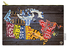 License Plate Map Of Canada Carry-all Pouch by Design Turnpike