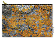 Carry-all Pouch featuring the photograph Lichen Coated Fence Post by Mary Bedy