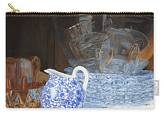 Carry-all Pouch featuring the painting Life Is A Carnival Glass by Lynne Reichhart