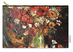 Carry-all Pouch featuring the painting Life Is Like A Vase Of Flowers by Belinda Low