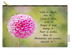 Life Is Short Carry-all Pouch by Trish Tritz