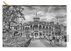 Carry-all Pouch featuring the photograph Life On Main Street by Howard Salmon
