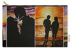 Carry-all Pouch featuring the painting Life's A Beach by Tamir Barkan