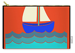Carry-all Pouch featuring the digital art Life's A Reach And Then You Jibe by Vagabond Folk Art - Virginia Vivier