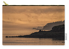 Carry-all Pouch featuring the photograph Lifting Fog At Sunrise On Campobello Coastline by Marty Saccone