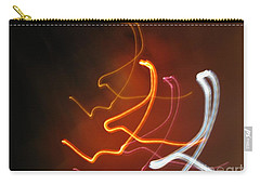 Carry-all Pouch featuring the photograph Light Drawing. I..i..i... Dancing Lights Series by Ausra Huntington nee Paulauskaite