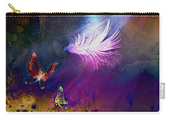 Carry-all Pouch featuring the painting Light Feather by Lilia D