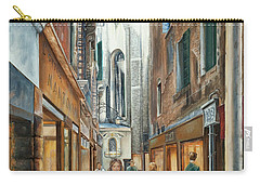 Light From San Salvador Merceria Del Capitello San Marco Venezia Carry-all Pouch