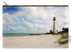 Light House On The Beach Carry-all Pouch by Carsten Reisinger
