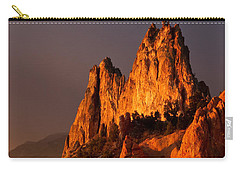 Carry-all Pouch featuring the photograph Light On The Rocks by Ronda Kimbrow
