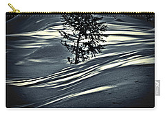 Carry-all Pouch featuring the photograph Light On The Snow by Janie Johnson