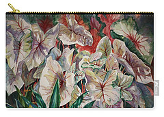 Light Play Caladiums Carry-all Pouch