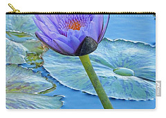 Light Purple Water Lily Carry-all Pouch by Pamela Walton