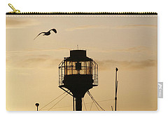 Light Ship Silhouette At Sunset Carry-all Pouch