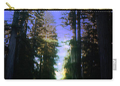 Carry-all Pouch featuring the digital art Light Through The Forest by Cathy Anderson