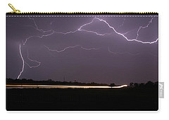 Carry-all Pouch featuring the photograph Lightening Bolts by Charles Beeler