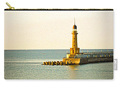 Lighthouse - Alexandria Egypt Carry-all Pouch by Mary Machare