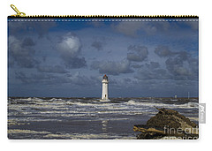 lighthouse at New Brighton Carry-all Pouch by Spikey Mouse Photography